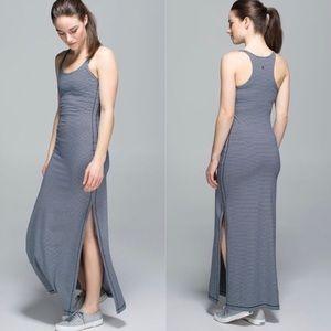 Lululemon Refresh Maxi Dress Hyper Stripe Inkwell